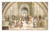 School of Athens, circa 1510-1512, One of the Murals Raphael Painted for Pope Julius II Rug by  Raphael