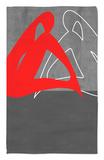 Mujer roja Alfombrilla por NaxArt