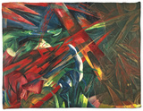 Fate of the Animals, 1913 Fleece Blanket by Franz Marc