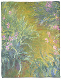 Iris Fleece Blanket by Claude Monet