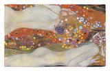 Serpientes acuáticas II, 1904-07 Alfombrilla por Gustav Klimt