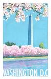 Washington DC, Washington Monument Alfombrilla por Lantern Press
