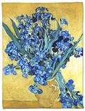 Vase of Irises Against a Yellow Background, c.1890 Fleece Blanket by Vincent van Gogh