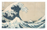 "The Great Wave of Kanagawa, from the Series ""36 Views of Mt. Fuji"" (""Fugaku Sanjuokkei"") Rug by Katsushika Hokusai"
