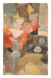 Bodegón con gladiolos; Gladiolen Still Leben Alfombrilla por Paul Klee