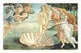 El nacimiento de Venus, c.1485 Alfombrilla por Sandro Botticelli