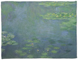 Waterlilies Fleece Blanket by Claude Monet