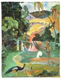 Matamoe Or, Landscape with Peacocks, 1892 Fleece Blanket by Paul Gauguin