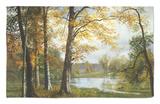 Un lago tranquilo Alfombrilla por Albert Bierstadt