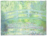 The Waterlily Pond with the Japanese Bridge, 1899 Fleece Blanket by Claude Monet