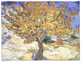Mulberry Tree, c.1889 Fleece Blanket by Vincent van Gogh
