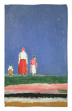 Three Figures, 1913-28 Rug by Kasimir Malevich