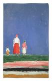 Tres figuras, 1913-28 Alfombrilla por Kasimir Malevich