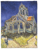 The Church in Auvers-Sur-Oise, c.1890 Fleece Blanket by Vincent van Gogh