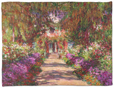 A Pathway in Monet's Garden, Giverny, 1902 Fleece Blanket by Claude Monet
