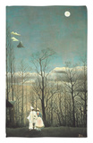 Carnival Evening Rug by Henri Rousseau