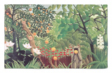 Paisaje exótico, 1910 Alfombrilla por Henri Rousseau