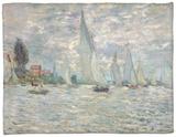 The Boats, or Regatta at Argenteuil, circa 1874 Fleece Blanket by Claude Monet
