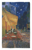 The Cafe Terrace on the Place du Forum, Arles, at Night, c.1888 Rug by Vincent van Gogh