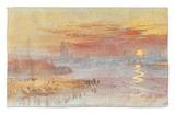 Sunset on Rouen Alfombrilla por J. M. W. Turner