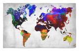 World Watercolor Map 12 Alfombrilla por NaxArt