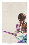 Hendrix With Guitar Watercolor Rug by  NaxArt