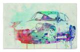 Porsche 911 Watercolor 2 Alfombrilla por NaxArt
