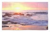 Playa Sunset Cliffs en el océano Pacífico al atardecer, San Diego, California, EE UU Alfombrilla por Christopher Talbot Frank