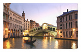 Rialto Bridge, Grand Canal, Venice, Italy Rug by Alan Copson