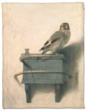 The Goldfinch, 1654 Fleece Blanket by Carel Fabritius