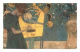 La música, 1895 Alfombrilla por Gustav Klimt