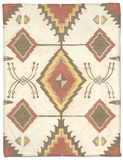 Non-Embellished Native Design I Fleece Blanket by Megan Meagher
