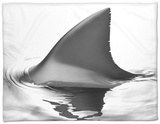 Shark Fin Fleece Blanket by Howard Sokol