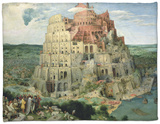 The Tower of Babel, c.1563 Fleece Blanket by Pieter Bruegel the Elder