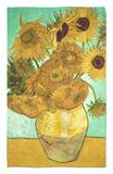 Doce girasoles Alfombrilla por Vincent van Gogh