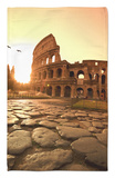 Colosseum and Via Sacra, Sunrise, Rome, Italy Rug by Michele Falzone