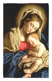 Madonna y el niño Alfombrilla por Giovanni Battista Salvi da Sassoferrato