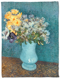 Vase of Lilacs, Daisies and Anemones, c.1887 Fleece Blanket by Vincent van Gogh