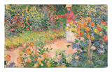 Garden at Giverny, 1895 Rug by Claude Monet