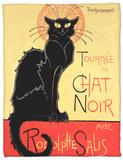 Tournee du Chat Noir Avec Rodolptte Salis Fleece Blanket by Théophile Alexandre Steinlen
