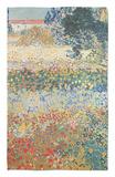 Garden in Bloom, Arles, c.1888 Alfombrilla por Vincent van Gogh