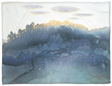 Clouds at Dusk Fleece Blanket by Yunlan He