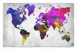 World Watercolor Map 13 Alfombrilla por NaxArt