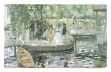 La Grenouillere, 1869 Alfombrilla por Pierre-Auguste Renoir