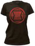 Black Widow - distressed icon T-shirts