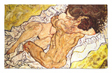 The Embrace, 1917 Rug by Egon Schiele