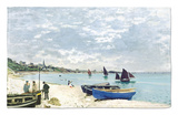 The Beach at Sainte-Adresse, 1867 Rug by Claude Monet