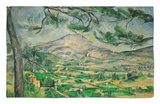 Mont Sainte-Victoire with Large Pine-Tree, circa 1887 Rug by Paul Cézanne