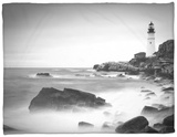 Maine, Portland, Portland Head Lighthouse, USA Fleece Blanket by Alan Copson