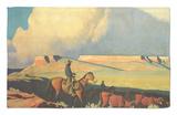 Open Range, 1942 Rug by Maynard Dixon